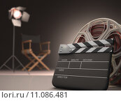 Купить «Clapboard concept of cinema.», фото № 11086481, снято 24 мая 2018 г. (c) PantherMedia / Фотобанк Лори