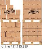 Купить «Cardboard boxes on wooden palette», иллюстрация № 11115889 (c) PantherMedia / Фотобанк Лори