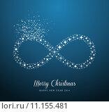 Купить «Infinite Merry Christmas and Happy New Year stars greeting card», иллюстрация № 11155481 (c) PantherMedia / Фотобанк Лори