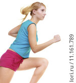 Купить «Fitness girl sport woman running jogging isolated», фото № 11161789, снято 18 ноября 2018 г. (c) PantherMedia / Фотобанк Лори