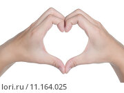 Купить «hand sign posture love icon isolated», фото № 11164025, снято 25 июня 2019 г. (c) PantherMedia / Фотобанк Лори
