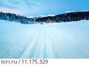 Купить «Ski Slope near Madonna di Campiglio Ski Resort in the Morning, Italian Alps, Italy», фото № 11175329, снято 24 июля 2019 г. (c) PantherMedia / Фотобанк Лори