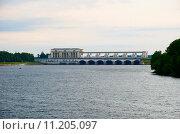 Углич. Плотина Угличской ГЭС (2015 год). Стоковое фото, фотограф Александр Щепин / Фотобанк Лори