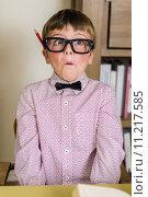 Купить «nerdy boy», фото № 11217585, снято 20 января 2020 г. (c) PantherMedia / Фотобанк Лори
