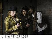 Купить «Steampunk Trio», фото № 11271589, снято 26 мая 2020 г. (c) PantherMedia / Фотобанк Лори