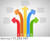 Infographics Arrow Banners, Vector Illustration. Стоковое фото, фотограф Nelson Marques / PantherMedia / Фотобанк Лори