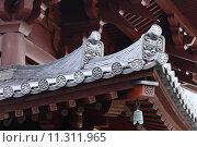 Купить «Temple roof eave», фото № 11311965, снято 18 июня 2019 г. (c) PantherMedia / Фотобанк Лори