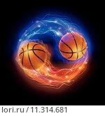 Купить «Basketball comet», иллюстрация № 11314681 (c) PantherMedia / Фотобанк Лори