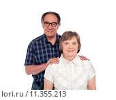 Купить «Happy senior lovable couple posing», фото № 11355213, снято 16 июня 2019 г. (c) PantherMedia / Фотобанк Лори