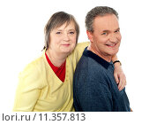 Купить «Closeup portrait of loving elderly couple», фото № 11357813, снято 16 июня 2019 г. (c) PantherMedia / Фотобанк Лори