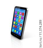 Купить «Smartphone Touchscreen HD - apps icons interface», иллюстрация № 11374289 (c) PantherMedia / Фотобанк Лори