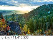Закат в горах. Алтай, фото № 11410533, снято 17 августа 2017 г. (c) Елена Ермакова / Фотобанк Лори