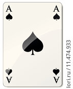 Купить «Vector ace of spades», иллюстрация № 11474933 (c) PantherMedia / Фотобанк Лори