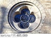 Купить «structure church window pane rosette», фото № 11485089, снято 27 мая 2019 г. (c) PantherMedia / Фотобанк Лори