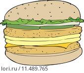 Купить «Egg and Chicken Burger», иллюстрация № 11489765 (c) PantherMedia / Фотобанк Лори