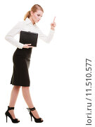 Купить «Full length mad businesswoman teacher shaking finger isolated», фото № 11510577, снято 22 марта 2019 г. (c) PantherMedia / Фотобанк Лори