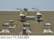 Купить «Roof ventilator machine.», фото № 11533065, снято 18 июня 2019 г. (c) PantherMedia / Фотобанк Лори