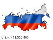 Купить «Russian flag map», иллюстрация № 11550465 (c) PantherMedia / Фотобанк Лори