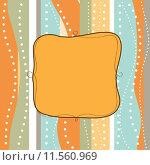 Купить «Cool template frame design for greeting card», иллюстрация № 11560969 (c) PantherMedia / Фотобанк Лори