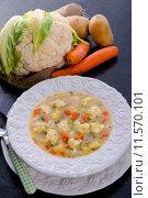 Купить «food vegetable soup cabbage broccoli», фото № 11570101, снято 23 января 2018 г. (c) PantherMedia / Фотобанк Лори