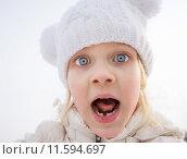 Купить «Портрет испуганной девочки», фото № 11594697, снято 22 февраля 2015 г. (c) Максим Блинков / Фотобанк Лори
