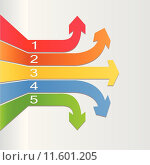 Illustration of a colorful infographic design. Стоковая иллюстрация, иллюстратор Nelson Marques / PantherMedia / Фотобанк Лори