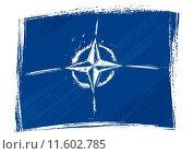 Купить «Grunge NATO flag», иллюстрация № 11602785 (c) PantherMedia / Фотобанк Лори