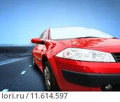 Купить «Red car», фото № 11614597, снято 23 октября 2018 г. (c) PantherMedia / Фотобанк Лори
