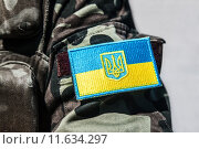 Купить «ukrainian military chevron», фото № 11634297, снято 19 января 2019 г. (c) PantherMedia / Фотобанк Лори