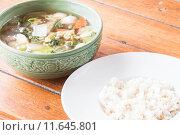 Купить «Homemade cooking rice and clear pork soup», фото № 11645801, снято 23 января 2018 г. (c) PantherMedia / Фотобанк Лори