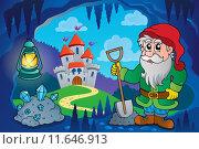 Купить «Dwarf in fairy tale cave», иллюстрация № 11646913 (c) PantherMedia / Фотобанк Лори