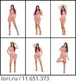 Купить «Sequence of images of a model with pink bikini», фото № 11651373, снято 16 декабря 2018 г. (c) PantherMedia / Фотобанк Лори