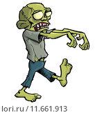 Купить «Cartoon zombie isolated on white», иллюстрация № 11661913 (c) PantherMedia / Фотобанк Лори