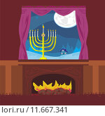 Купить «candlestick in window - hanukkah», иллюстрация № 11667341 (c) PantherMedia / Фотобанк Лори