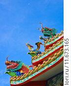 Купить «Chinese temple roof decoration, Thailand», фото № 11673165, снято 18 июня 2019 г. (c) PantherMedia / Фотобанк Лори