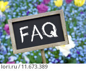 Купить «FAQ - Frequently Asked Questions», фото № 11673389, снято 16 июня 2019 г. (c) PantherMedia / Фотобанк Лори
