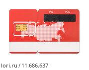 SIM карта. Стоковая иллюстрация, иллюстратор Антон Стариков / Фотобанк Лори