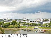 Купить «urban port on La Maine river in Angers city», фото № 11713773, снято 17 августа 2018 г. (c) PantherMedia / Фотобанк Лори