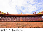 Купить «Roof decorate of Tran Quoc temple, Vietnam», фото № 11734165, снято 18 июня 2019 г. (c) PantherMedia / Фотобанк Лори
