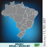 Купить «karte landkarte brasilien brasilienkarte goi», иллюстрация № 11781997 (c) PantherMedia / Фотобанк Лори