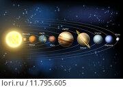 Купить «Sun and planets of the solar system», иллюстрация № 11795605 (c) PantherMedia / Фотобанк Лори