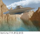 Купить «Flying saucer», фото № 11812613, снято 11 декабря 2017 г. (c) PantherMedia / Фотобанк Лори