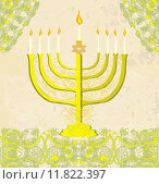 Купить «Hanukkah Greeting Card.», иллюстрация № 11822397 (c) PantherMedia / Фотобанк Лори