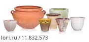 Купить «collage ceramics flowerpot tubs terra», фото № 11832573, снято 23 апреля 2018 г. (c) PantherMedia / Фотобанк Лори