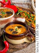 Купить «Oxtail soup», фото № 11859149, снято 15 октября 2019 г. (c) PantherMedia / Фотобанк Лори