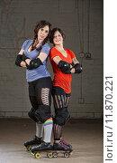 Купить «Confident Roller Derby Skaters», фото № 11870221, снято 10 июля 2020 г. (c) PantherMedia / Фотобанк Лори