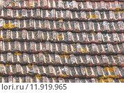 Купить «Weathered tiles of house roof», фото № 11919965, снято 18 июня 2019 г. (c) PantherMedia / Фотобанк Лори