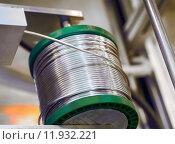 Купить «industry silver roll wire lot», фото № 11932221, снято 25 сентября 2018 г. (c) PantherMedia / Фотобанк Лори