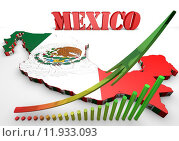 Купить «map illustration of Mexico with flag», иллюстрация № 11933093 (c) PantherMedia / Фотобанк Лори