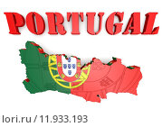 Купить «Map illustration of Portugal with map», иллюстрация № 11933193 (c) PantherMedia / Фотобанк Лори